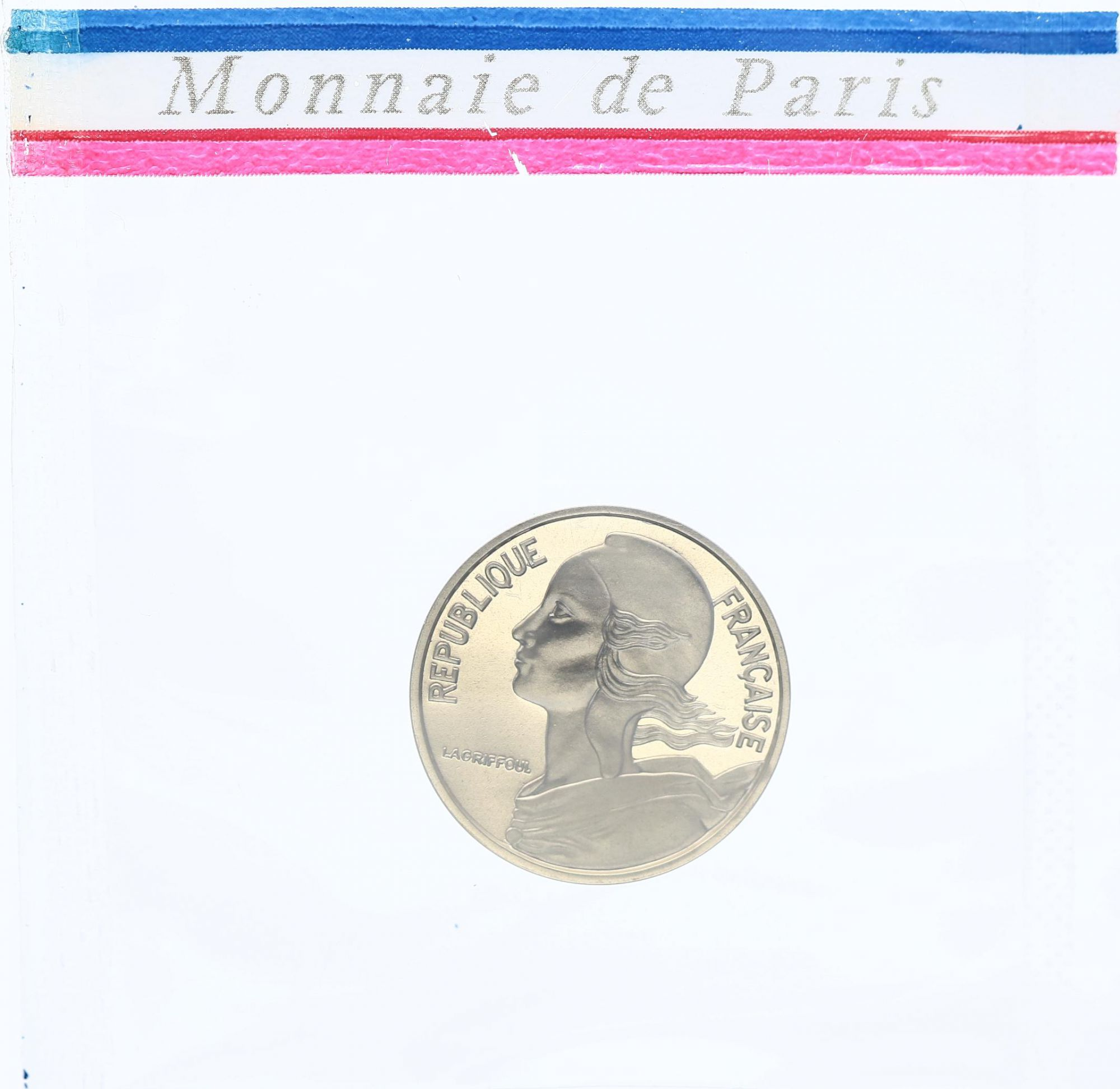 France 5 Centimes Marianne - 1971 Piefort - Argent - FDC