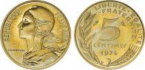 France 5 Centimes Marianne - 1974  issu de coffret BU