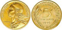 France 5 Centimes Marianne - 1976  issu de coffret BU