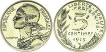 France 5 Centimes Marianne - 1979  issu de coffret BU