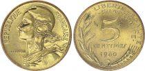 France 5 Centimes Marianne - 1980  issu de coffret BU