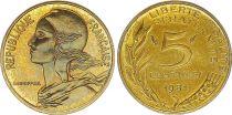 France 5 Centimes Marianne - 1981  issu de coffret BU