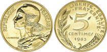 France 5 Centimes Marianne - 1983  issu de coffret BU - NEUF