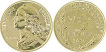 France 5 Centimes Marianne - 2001 Frappe BU