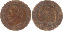 France 5 Centimes Napoléon III - Tête Laurée - 1864 BB Strasbourg