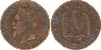 France 5 Centimes Napoléon III - Tête Laurée -1861 BB Strasbourg