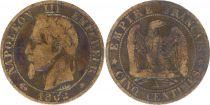 France 5 Centimes Napoléon III - Tête Laurée -1862 A Paris