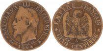 France 5 Centimes Napoléon III - Tête Laurée -1864 A Paris