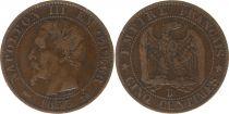 France 5 Centimes Napoléon III - Tête Nue -1853 B Rouen