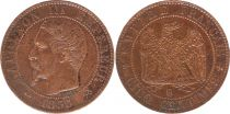 France 5 Centimes Napoléon III - Tête Nue -1855 B Rouen