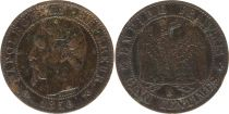 France 5 Centimes Napoléon III - Tête Nue -1856 B Rouen