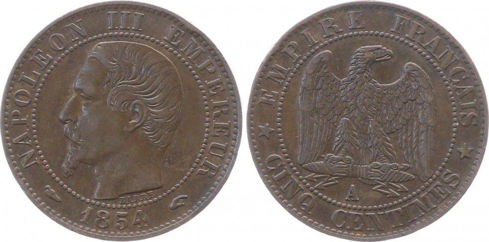 napoleon 111 empereur coin 1854
