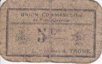 France 5 Centimes Saint-Quentin Fleurette 1