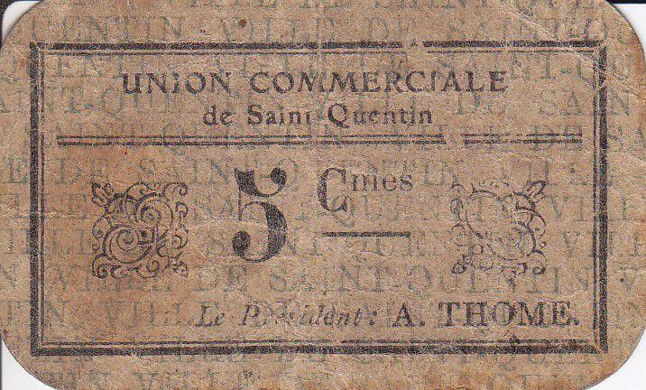 France 5 Centimes Saint-Quentin Fleurette 3