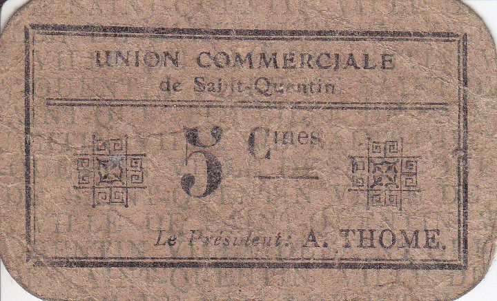 France 5 Centimes Saint-Quentin Union commerciale