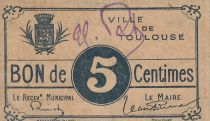France 5 Centimes Toulouse Emission Municipale