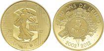 France 5 Euro OR  - 10 ans de l\'euro  2012 - Frappe BE - sans boîte ni certificat -2nd  ex