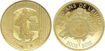 France 5 Euro OR  - 10 ans de l\'euro 2012 - Frappe BE - sans boîte ni certificat