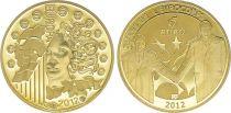 France 5 Euro OR  - 20 ans Eurocorps 2012 Frappe BE - sans boîte ni certificat