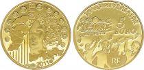 France 5 Euro OR  - 30 ans fête de la musique 2011 - Frappe BE - sans boîte ni certificat