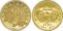 France 5 Euro OR  - 50 ans du Traité de l\'Elysée 2013 - Frappe BE - sans boîte ni certificat