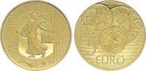 France 5 Euro OR  - Denier Charles le Chauve 2014  Frappe BE - sans boîte ni certificat