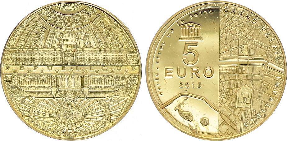 France 5 Euro OR  - Grand Palais 2015 Frappe BE - sans boîte ni certificat