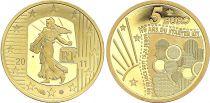 France 5 Euro OR  - Starter Kit Euro 2011 - Frappe BE - sans boîte ni certificat