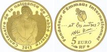 France 5 Euros Abbé Pierre - 1/25 Oz Gold - 2012 - Gold