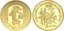 France 5 Euros Gold  - 1960-2010 New Franc - Proof  - without boxe and without certificat