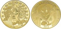 France 5 Euros Gold  20 years of Eurocorps 2012 - Proof  - without boxe and without certificat