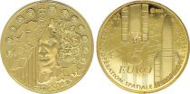 France 5 Euros Gold  50 Years of European Space Agency 2014 - Proof  - without boxe and without certificat