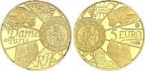 France 5 Euros Gold  Notre Dame de Paris 2013 - Proof  - without boxe and without certificat