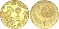 France 5 Euros Gold  Soccer FIFA 2014  - Proof  - without boxe and without certificat