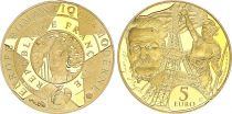 France 5 Euros Gold  V. Hugo Eiffel Tower 2017 - Proof  - without boxe and without certificat