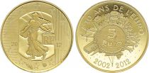 France 5 Euros Gold 10 Years of Euro  - 2012 - Proof  - without boxe and without certificat -2nd  ex