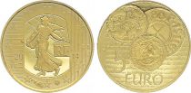 France 5 Euros Gold Denier Charles le Chauve 2014  - Proof  - without boxe and without certificat
