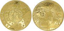 France 5 Euros Gold Léonard de Vinci 2019 - Proof  - without boxe and without certificat