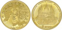 France 5 EurosGold - Abbaye de Cluny 2010 - Proof  - without boxe and without certificat