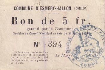 France 5 F Esmery-Hallon n° 394
