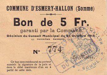 France 5 F Esmery-Hallon n° 774