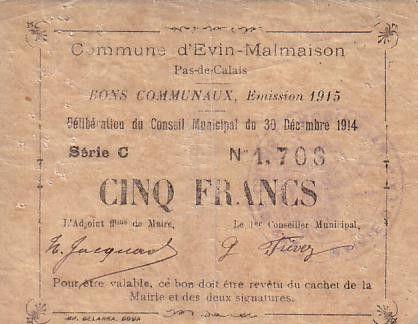 France 5 F Evin-Malmaison - 30/12/1914