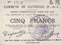 France 5 F Gavrelle Autre papier