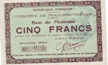 France 5 F Wallers-Trelon Bon de monnaie
