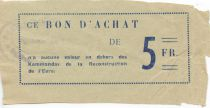 France 5 Francs - Eure Reconstruction Commandos Coupon - F