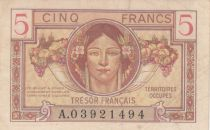 France 5 Francs , Trésor Français - 1947 - Série A.03921494