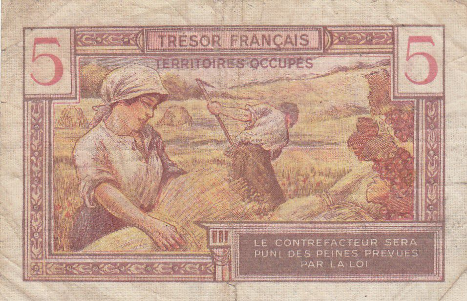France 5 Francs , Trésor Français - 1947 - Série A.04054361
