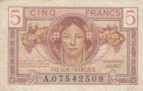 France 5 Francs , Trésor Français - 1947 - Série A.07542508