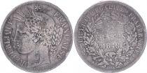 France 5 Francs, Cérès  - IIe République - 1849 BB Strasbourg - TB