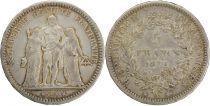 France 5 Francs  Hercule - III e République - 1872 A Paris